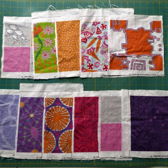 swatch purse fabric rough cut