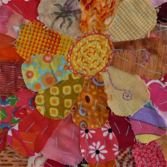 flower fabric collage (2)