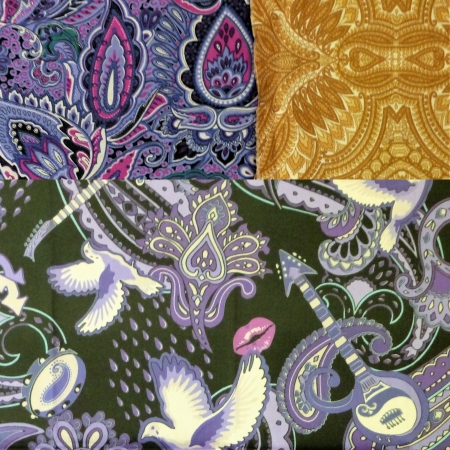 a very paisley tote fabric selection