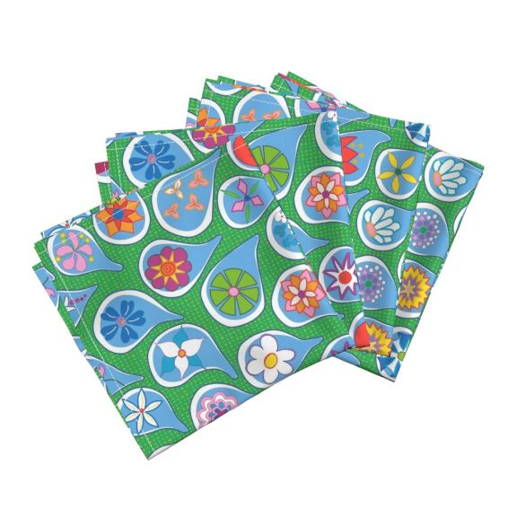 April Showers Bring May Flowers by lalalamonique on Roostery Napkin