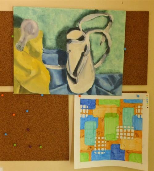 inspiration and intermediate sketch