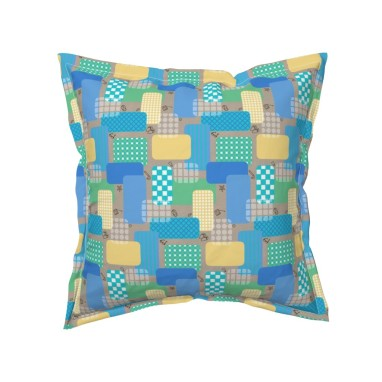 small scale summer by lalalamonique on roostery throw pillow