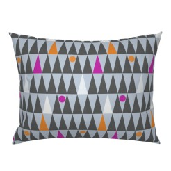 tall triangles and circles by lalalamonique on roostery pillow sham