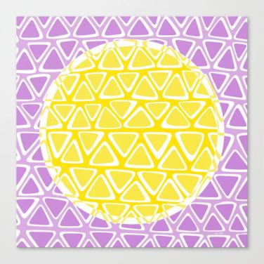 dot 11 canvas print