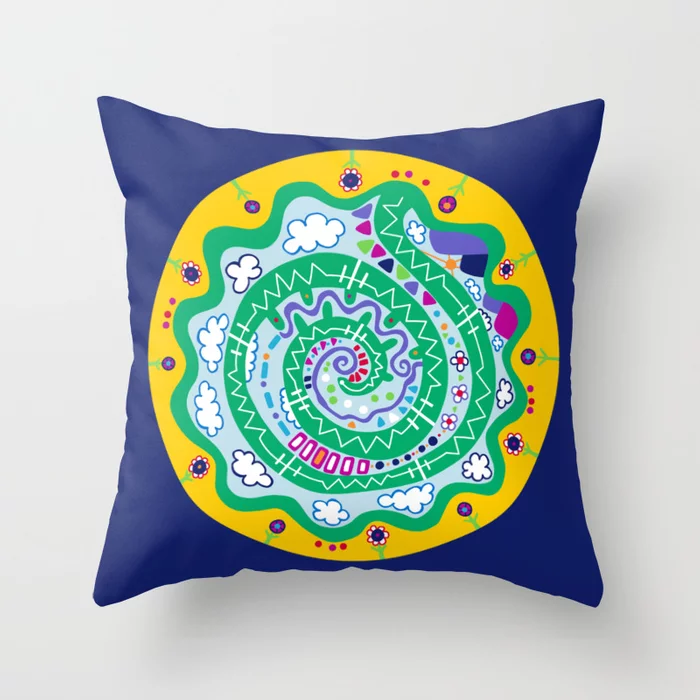 Dot 12 throw pillow