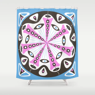 dot 14 shower curtain