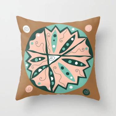 Dot 15 throw pillow