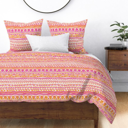 stripes with cats duvet cover